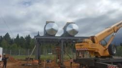 Установка топливных емкостей на объекте АК «Транснефть»
