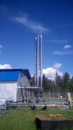Монтаж дымовых труб на реконструируемой котельной объекта ПАО «Транснефть»